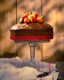 De uitstekende Cake van het Fruit van de Stijl Stock Foto