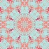 De uitstekende caleidoscoop van de patroon abstracte symmetrie Moderne Mandala royalty-vrije illustratie