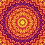 De uitstekende caleidoscoop van de patroon abstracte symmetrie Retro textuur royalty-vrije illustratie