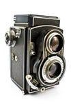 De uitstekende camera van de twee lensfoto royalty-vrije stock foto