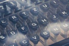 De uitstekende close-up van het schrijfmachinetoetsenbord Royalty-vrije Stock Foto