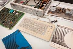 De uitstekende computer bij Robot en de Makers tonen Stock Foto