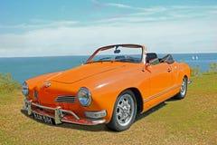 De uitstekende convertibele auto van karmannghia Royalty-vrije Stock Afbeelding