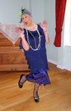 de uitstekende danser van 1920 Stock Foto's