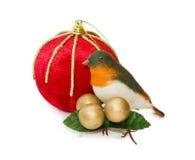 De uitstekende decoratie van Kerstmis met het knippen van weg Royalty-vrije Stock Afbeeldingen