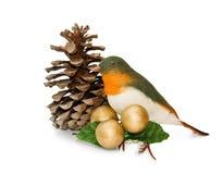 De uitstekende decoratie van Kerstmis met het knippen van weg Royalty-vrije Stock Afbeelding