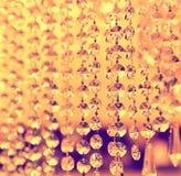 De uitstekende details van de kristallamp Royalty-vrije Stock Foto