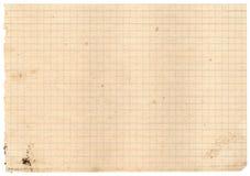 De uitstekende document rug van de textuurcontroleur Royalty-vrije Stock Fotografie