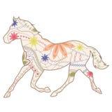 De uitstekende draf van de paardlooppas Stock Foto