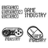 De uitstekende emblemen van de spelindustrie Royalty-vrije Stock Afbeelding