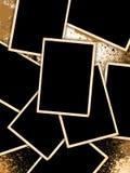 De uitstekende Frames van de Foto op Achtergrond Grunge Royalty-vrije Stock Foto's