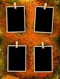 De uitstekende Frames van de Foto op de Achtergrond van de Stijl Grunge Royalty-vrije Stock Afbeelding