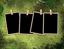 De uitstekende Frames van de Foto op de Achtergrond van de Stijl Grunge Stock Afbeeldingen