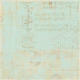 De uitstekende Franse achtergrond van de het manuscriptcollage van de Brief Stock Foto