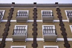 De uitstekende gebouwen Stock Foto's