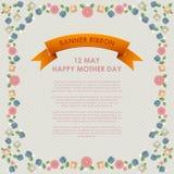 De uitstekende Gelukkige Achtergrond van de Moeders` s Dag De gelukkige kaarten van de moedersdag Stock Afbeelding