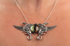 De uitstekende gem van de halsbandgriffioen cateye Royalty-vrije Stock Fotografie