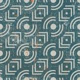 De uitstekende geometrische naadloze achtergrond, oude vector herhaalt patroon Stock Fotografie