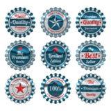 De uitstekende geplaatste etiketten van de premiekwaliteit Royalty-vrije Stock Foto