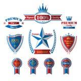 De uitstekende geplaatste etiketten van de premiekwaliteit Royalty-vrije Stock Foto's
