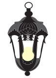De uitstekende geïsoleerde lamp van de Rococo'sstijl Royalty-vrije Stock Afbeeldingen