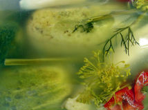 De uitstekende gezonde komkommers stock afbeelding