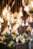 De uitstekende gloeilamp van Edison, close-up Royalty-vrije Stock Fotografie