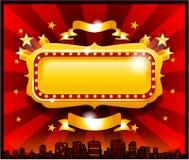 De uitstekende gouden banner van het circuscasino Stock Foto's