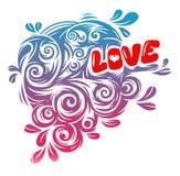 De uitstekende grafiek van de liefde Stock Foto