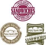 De uitstekende Grafiek van de Sandwich van de Stijl Royalty-vrije Stock Afbeelding