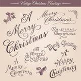 De uitstekende Groeten van Kerstmis Royalty-vrije Stock Foto's