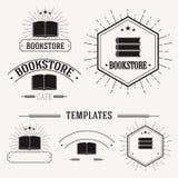 De uitstekende insignes en logotypes plaatsen Stock Afbeeldingen