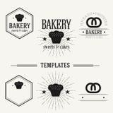 De uitstekende insignes en logotypes plaatsen Royalty-vrije Stock Fotografie