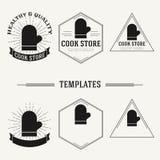 De uitstekende insignes en logotypes plaatsen Royalty-vrije Stock Afbeeldingen