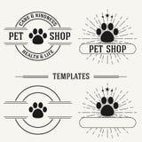 De uitstekende insignes en logotypes plaatsen Stock Foto