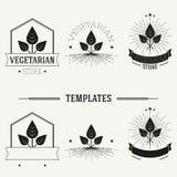 De uitstekende insignes en logotypes plaatsen Stock Fotografie