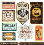De uitstekende Inzameling van Etiketten - Reeks 2 Royalty-vrije Stock Fotografie