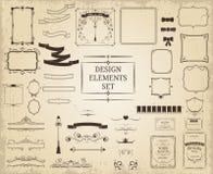 De uitstekende inzameling van ontwerpelementen Royalty-vrije Stock Afbeeldingen
