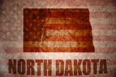 De uitstekende kaart Noord- van Dakota Royalty-vrije Stock Afbeelding