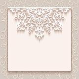 De uitstekende kaart van de kantgroet of huwelijksuitnodiging Royalty-vrije Stock Fotografie