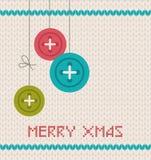 De uitstekende kaart van de Kerstmisgroet Stock Foto