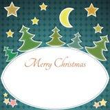 De uitstekende kaart van de Kerstmisgroet Stock Foto's
