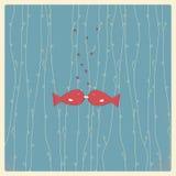 De uitstekende kaart van de valentijnskaartendag Stock Illustratie