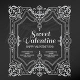 De uitstekende Kaart van de Valentijnskaartendag Royalty-vrije Stock Afbeeldingen