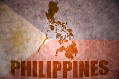 De uitstekende kaart van Filippijnen Stock Afbeelding