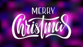 De uitstekende Kaart van de Kerstmiskalligrafie - het Vrolijke Kerstmis Van letters voorzien stock illustratie