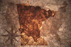 de uitstekende kaart van de staat van Minnesota vector illustratie