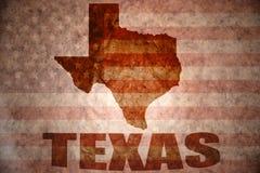 De uitstekende kaart van Texas stock afbeelding