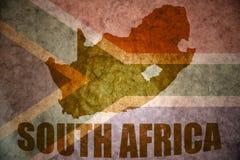 De uitstekende kaart van Zuid-Afrika Royalty-vrije Stock Fotografie