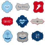 Uitstekende Kaders voor valentijnskaartdag Royalty-vrije Stock Afbeelding